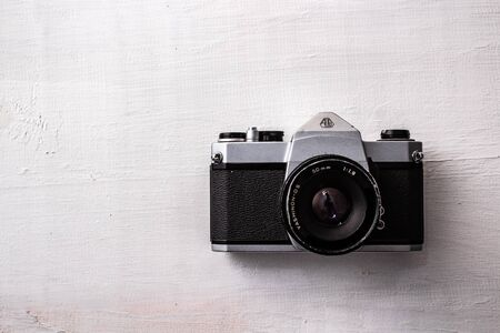 Foto per old camera on white background - Immagine Royalty Free