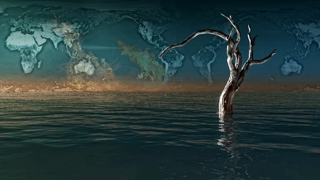 3d image of a dead tree