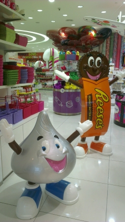 Candys decoration in the shopping mall