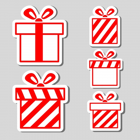 Gift boxes stickers set