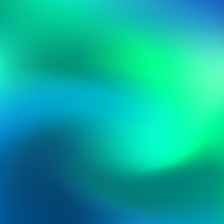 Ilustración de Holographic neon abstract vector background for flyers, cover, poster, banner etc. Colorful vibrant background. Blue and green neon colors. Creative design. Vector graphics - Imagen libre de derechos