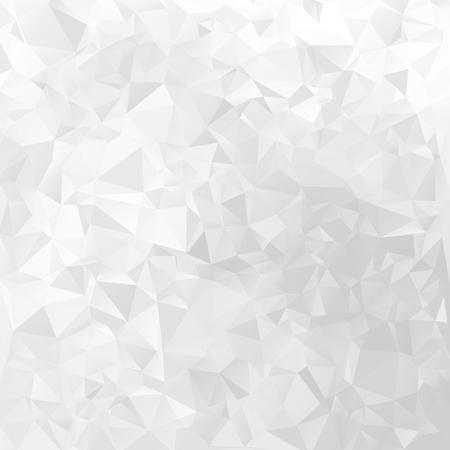 Illustration pour White geometrical vector background triangular design pattern - image libre de droit