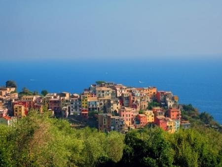 Village on Italian coast in Liguria