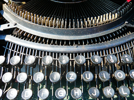 Close up of a vintage writing machine