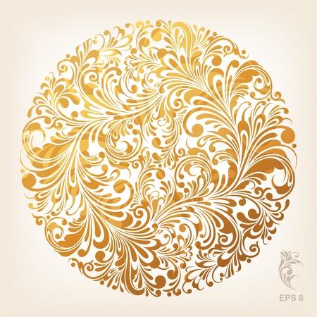 Ornamental Gold Circle Pattern