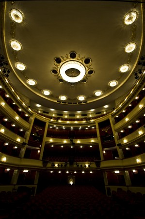 beautiful interior of the Burgtheater in Vienna