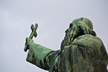 monument of the city patron of Budapest Saint Gellert