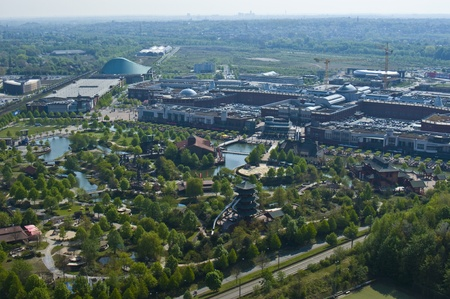aerial view of the shopping center Centro in Oberhausen