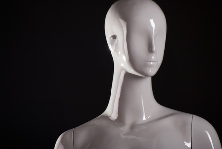 Head of female fashion mannequin