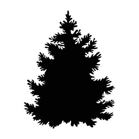 Illustration pour Black spruce in beautiful style on white background. - image libre de droit