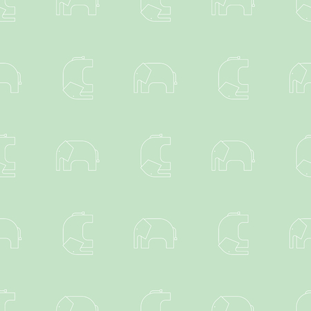 Simple seamless pattern. Vector background with elephants. Can be used for wallpaper, surface texture, scrapbooking, fabric prints. For riding service, travel agency, tour brochure, excursion banner.