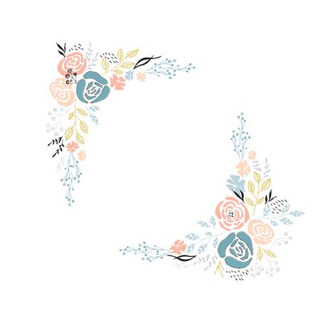 Ilustración de Vector floral frame - Imagen libre de derechos