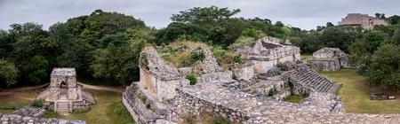 Ek Balam, Ancient Maya city ruins panoramic view in Yucatan, Mexico