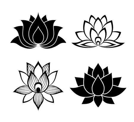 Illustration pour Lotus flower signs set for the perfect web design - image libre de droit