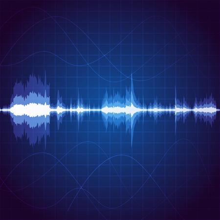 Digital sound wave, unique music pulse background