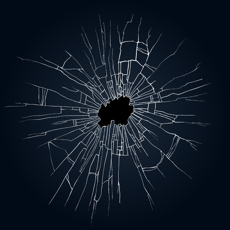 Broken glass black background for web and mobile devices