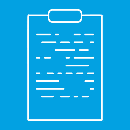 Tablet paper thin line icon for web and mobile devices