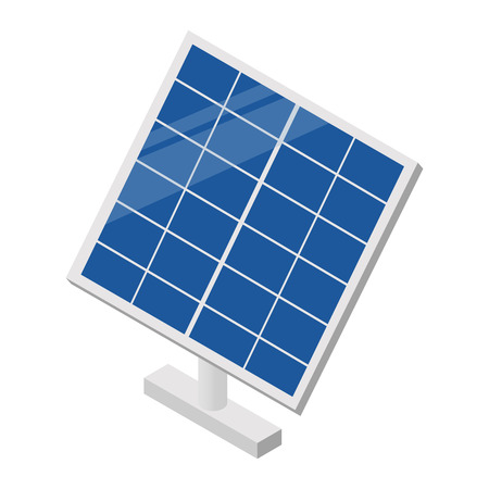Solar panel isometric 3d icon for web and mobile devices