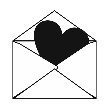 Love letter simple icon isolated on white background