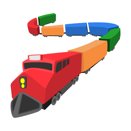 Ilustración de Locomotive cartoon icon isolated on a white background - Imagen libre de derechos