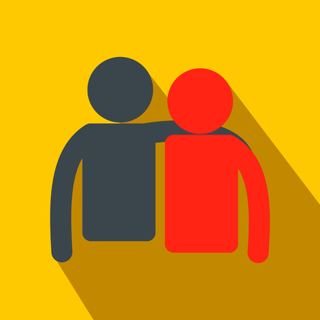 Illustration pour Friendship flat icon for web and mobile devices - image libre de droit