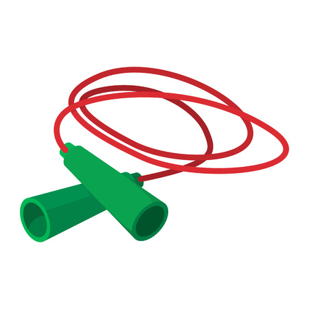 Skipping rope cartoon icon on a white background