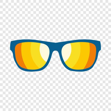 Ilustración de Sunglasses icon in flat style on transparent background - Imagen libre de derechos