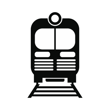 Train black simple icon isolated on white background
