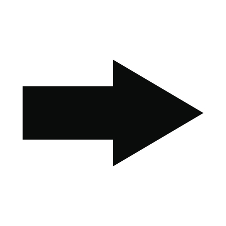 Photo pour Right arrow black simple icon isolated on white background - image libre de droit