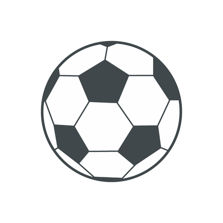 Soccer ball flat icon isolated on white background