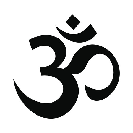 Illustration pour Hindu om symbol icon in simple style isolated on white background - image libre de droit