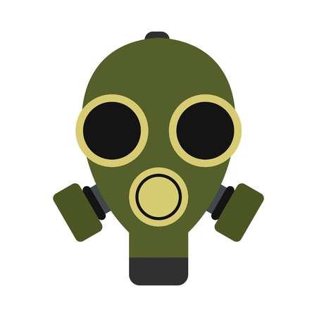 Gas mask icon in flat style isolated on white background