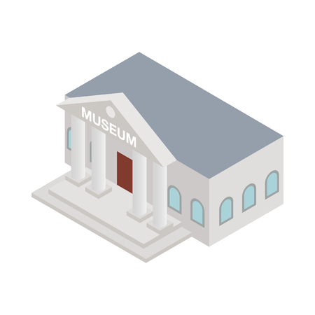 Illustration pour Museum icon in isometric 3d style on a white background - image libre de droit