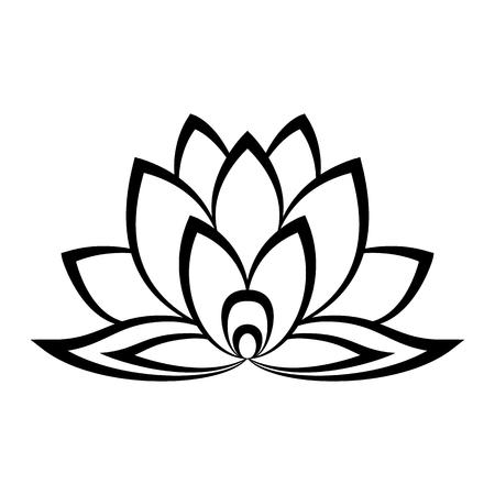 Ilustración de Lotus flower sign in simple style isolated on white - Imagen libre de derechos