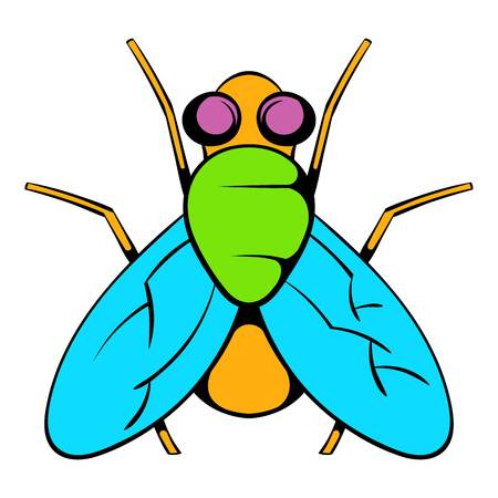 Insect fly icon, icon cartoon