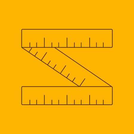 Ruler line icon