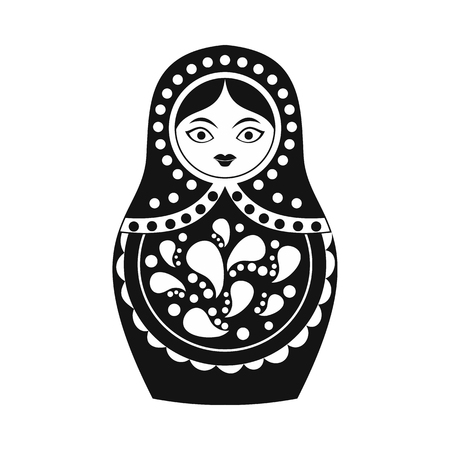 Photo pour Russian matryoshka icon in simple style isolated on white - image libre de droit