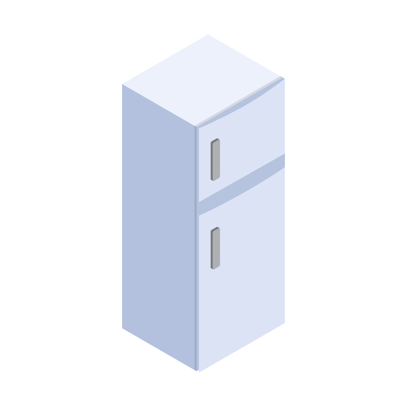 Fridge icon, isometric 3d style