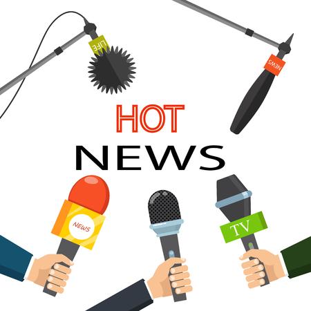 Illustration pour Hot news media concept - image libre de droit