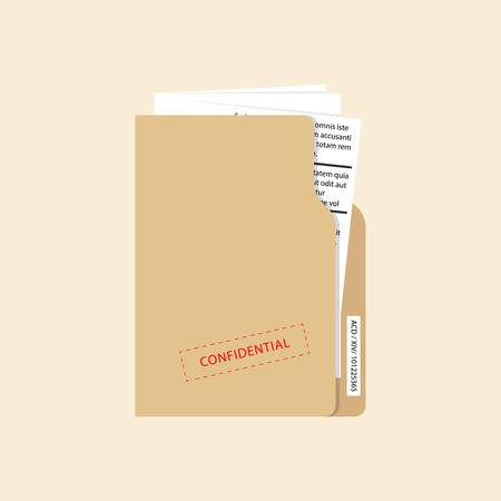 Illustration pour Confidential and top secret document concept. Vector - image libre de droit