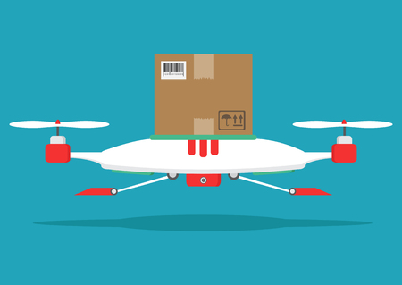 The concept of fast, free delivery, gift  Vector