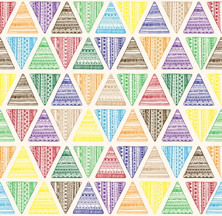 Seamless triangle pattern. Vector  tribal ethnic background. Geometric abstract texture.  Us