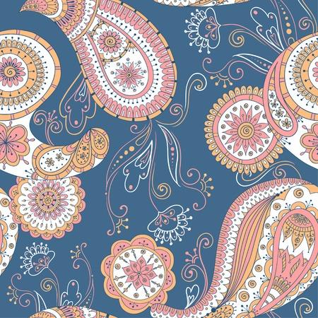 Doodle Paisley Wallpaper