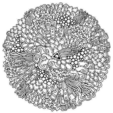 Summer Doodle Mandala