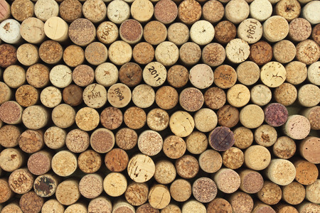 Photo for many different wine corks in the background - Royalty Free Image