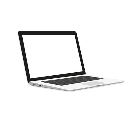 Isometric illustration of laptop isolated on white