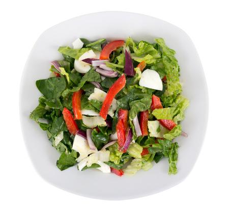 Photo pour egg and vegetables salad plate over white background - image libre de droit