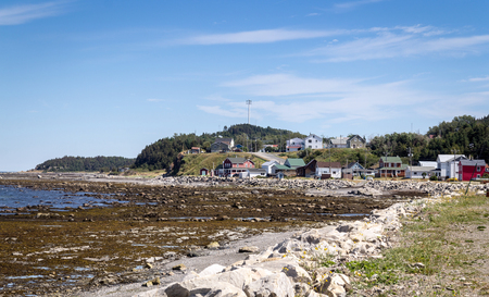 Matane, Canada-09 August 2017 : Grosses-Roches Matane Coast view at summer. Matane is a town on the Gaspé Peninsula in Quebec, Canada, on the south shore of the Saint Lawrence River