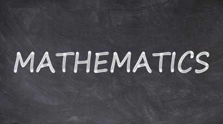 Photo pour Mathematics written on blackboard - image libre de droit