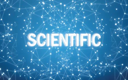 Photo pour Scientific on digital interface and blue network background - image libre de droit
